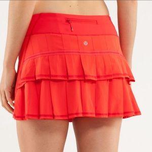 Lululemon Run: Pace Setter Skirt Love Red